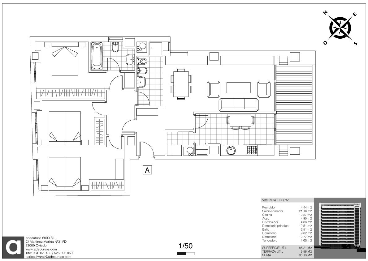 Planos definitivos distribuci n tipo 5 viviendas por for Distribucion de oficinas en una empresa