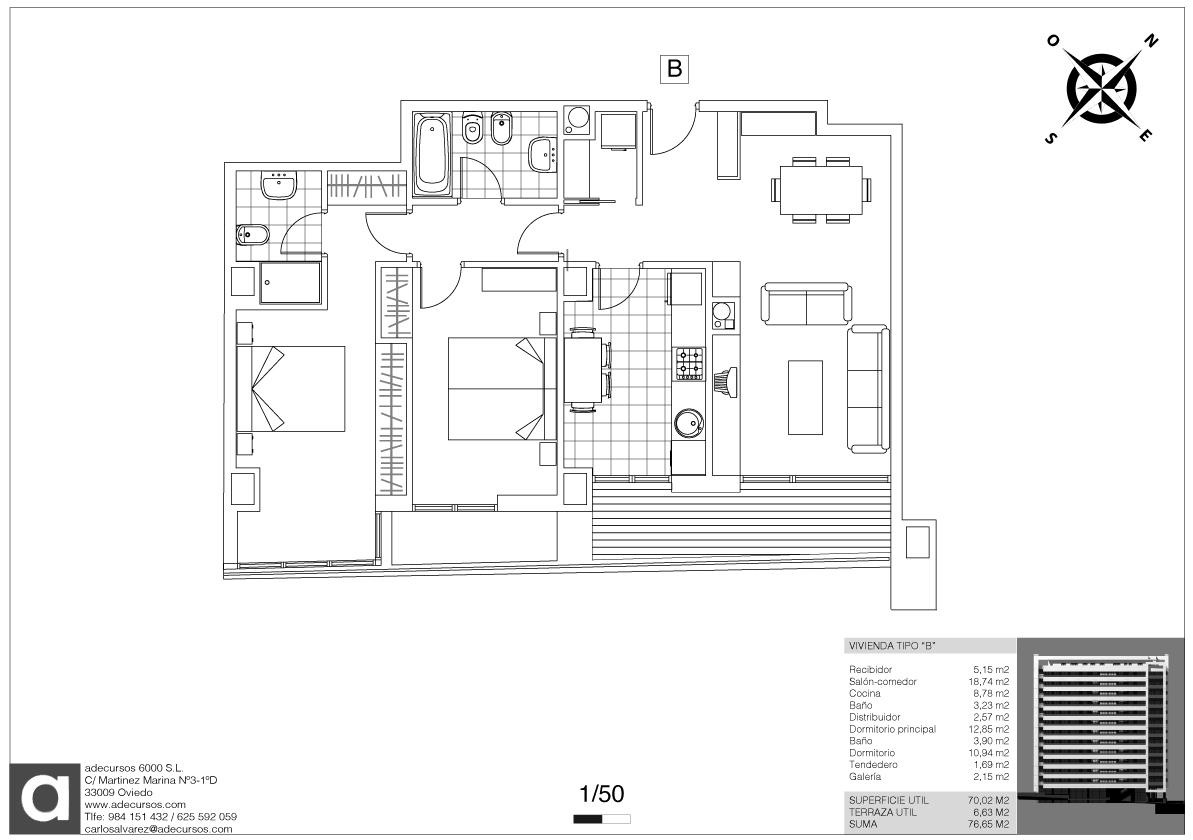 Planos definitivos distribuci n tipo 5 viviendas por for Planos de viviendas de una planta