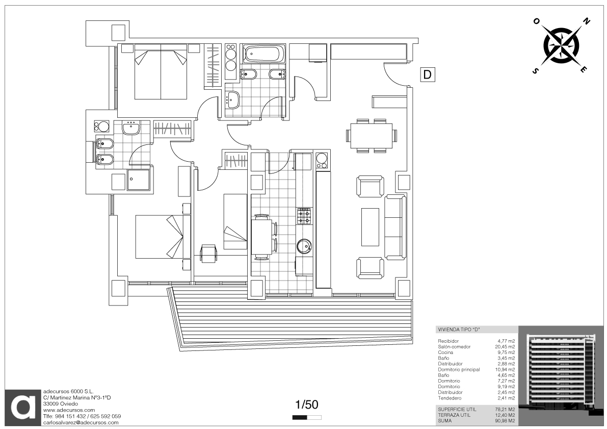 Planos definitivos distribuci n tipo 5 viviendas por for Planos de arquitectura pdf
